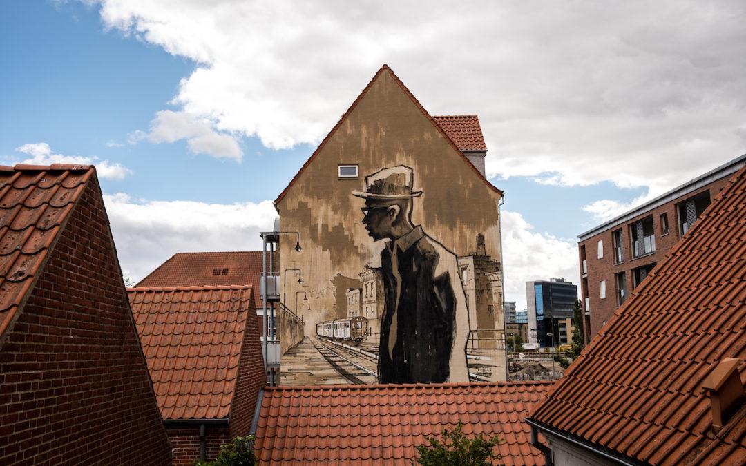 Kunst i byen – Horsens midtby har fået 5 nye gavlmalerier